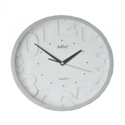 ADLER 30133 SILVER Quartz Wall Clock