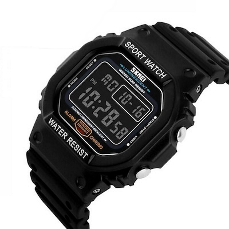 SKMEI MEN SPORT LED WATCH WATER RESISTANT 50M DG1113 BLACK WHITE. SKMEI DG1134BK Black Digital · SKMEI DG1134BK Black Digital .