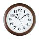 ADLER 30021 DARK BROWN Настенные кварцевые часы
