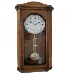ADLER 20240O ĄŽUOLAS sieninis kvarcinis laikrodis
