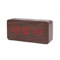 Electric LED Alarm Clock XONIX GHY-010/BR/RED