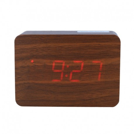 Elektrinis LED laikrodis XONIX GHY-012/BR/RED