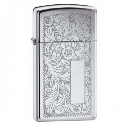 Žiebtuvėlis ZIPPO 1652 Slim Venetian High Polish Chrome