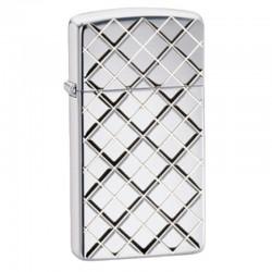 Žiebtuvėlis ZIPPO 28581 Slim Armor Argyle Windproof Pocket Lighter - High Polished Chrome