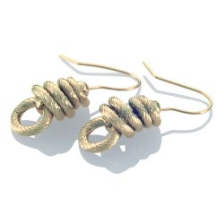 Auskarai Storm Whip Gold Earrings